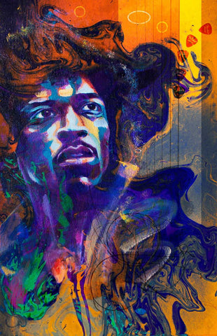 The Spirit Of Jimi Hendrix #3 by Deepak Tomar