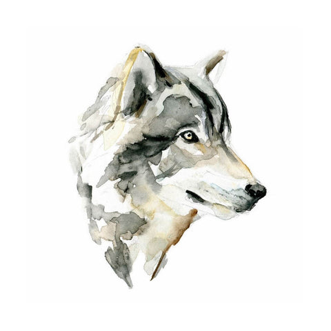 The Spirit Of Wolf - Modern Watercolor Painting