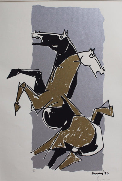 The Two Horses - Large Art Prints