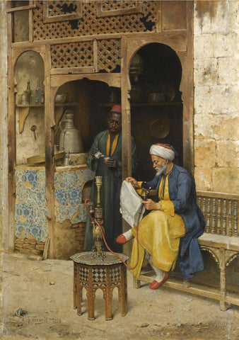 The Coffeehouse, Cairo, 1888 - Arthur von Ferraris