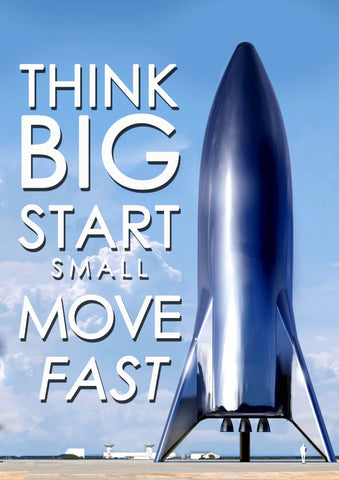 Think Big Start Small Move Fast - Tallenge Motivational Posters Collection by Sherly David