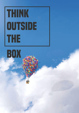 Think Outside The Box - Inspirational Quote - Tallenge Motivational Poster Collection by Sherly David