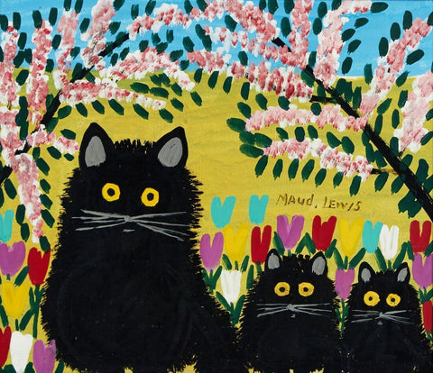 Three Black Cats - Maud Lewis - Posters by Maud Lewis