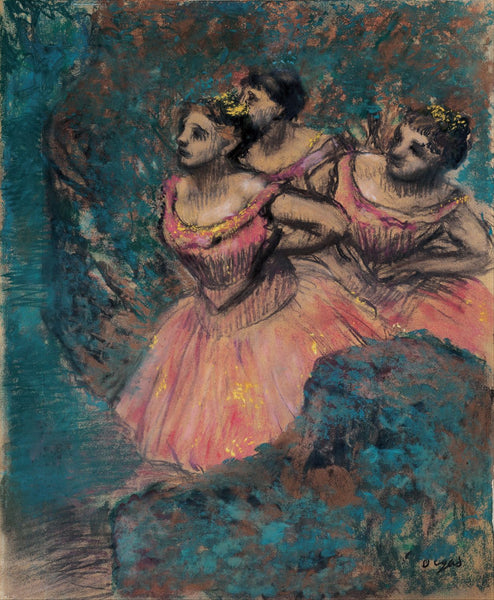 Three Dancers In Red Costume - Posters