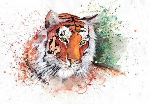 Tiger - A Watercolor - Framed Prints