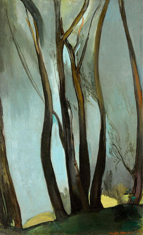 Trees - Amrita Sher-Gil - Indian Artist Painting by Amrita Sher-Gil