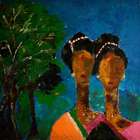 Twin Sisters - Indian Abstract