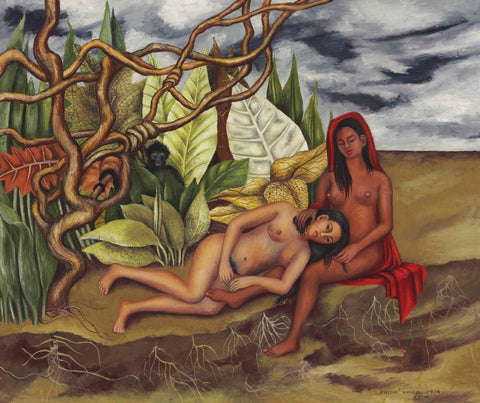 Two Nudes In The Forest (Dos Desnudos En El Bosque) by Frida Kahlo
