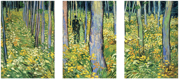 Undergrowth with Two Figures by Vincent van Gogh - Art Panels