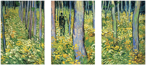 Undergrowth with Two Figures - Art Panels