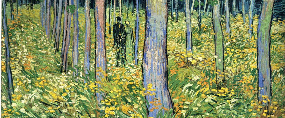 Undergrowth with Two Figures by Vincent Van Gogh | Buy Posters, Frames, Canvas  & Digital Art Prints
