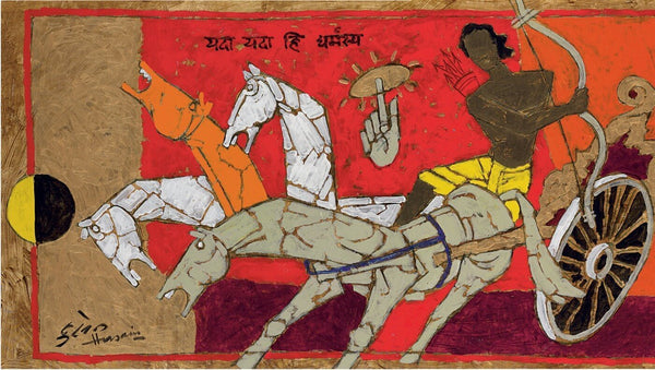 Untitled (Arjuna and Krishna) - Art Prints