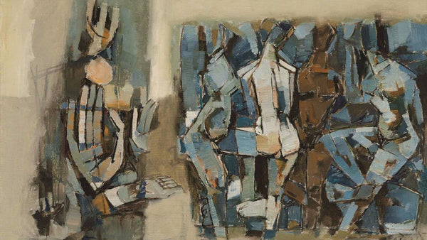 Artwork of Untitled (Figures), 1965 by M F Husain