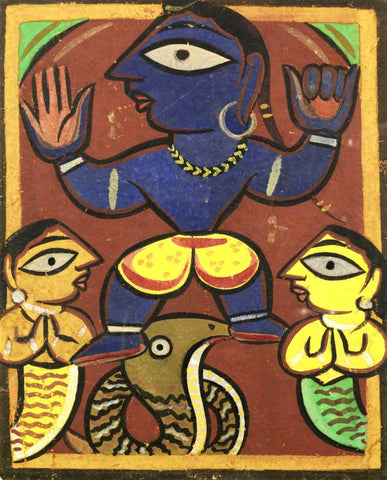 Untitled (Krishna Dancing On The Serpent Kaliya)