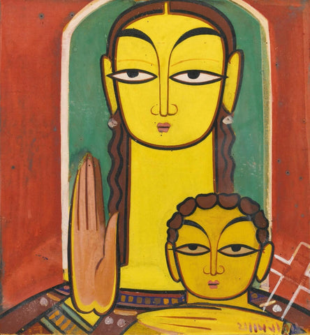 Untitled (Madonna and Child) by Jamini Roy