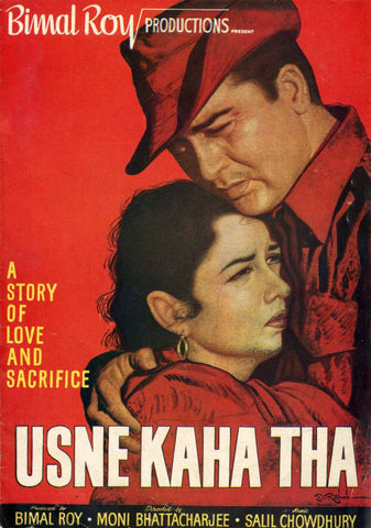 Usne Kaha Tha - Bimal Roy - Classic Hindi Movie Poster