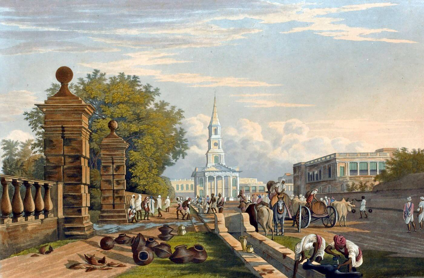 VIEWS OF CALCUTTA AND ITS ENVIRONS - James Baillie Fraser - c 1826 Vintage Orientalist Paintings of India