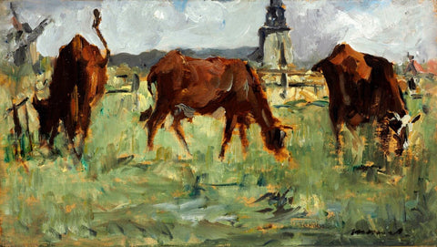 Cows In Pasture (Vaches Au Paturage) - Édouard Manet