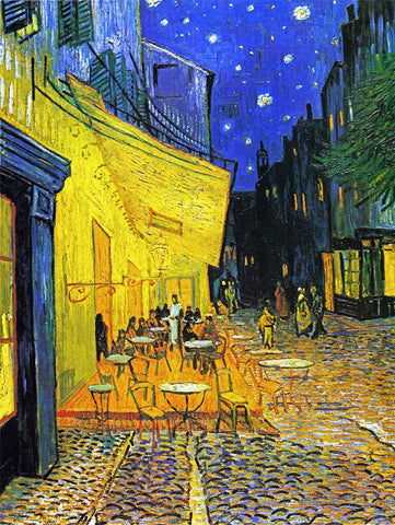 Cafe Terrace at Night - Large Art Prints