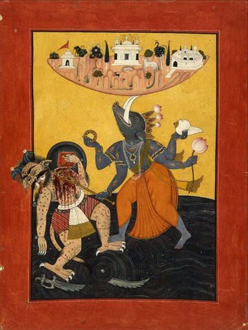 Indian Miniature Art - Varaha