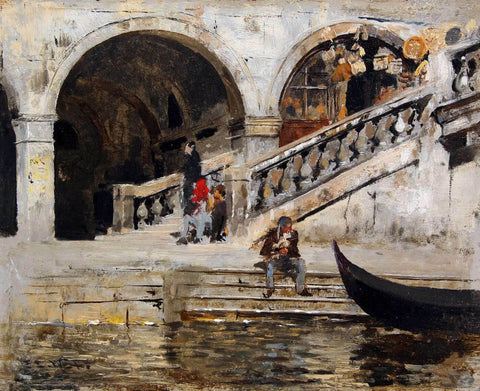Venice Rialto - Edwin Lord Weeks - Orientalist Artwork Painting