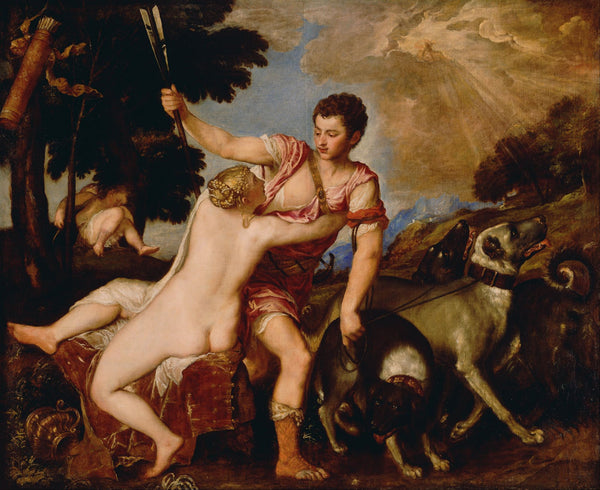 Venus and Adonis - Canvas Prints