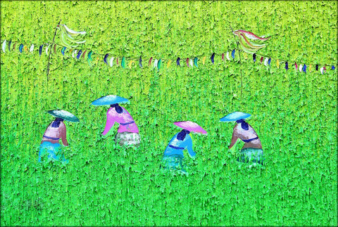 Vietnamese Farming Women - Framed Prints