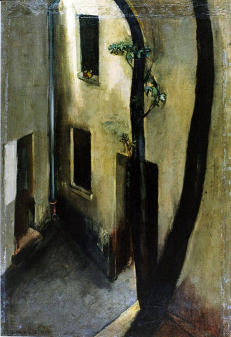 View From Studio - Amrita Sher-Gil - Art Painting by Amrita Sher-Gil