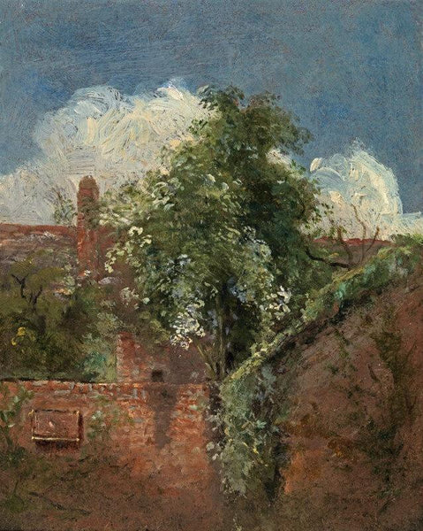 Artwork of View Of The Back Of A Terrace Of Houses At Hampstead by John Constable
