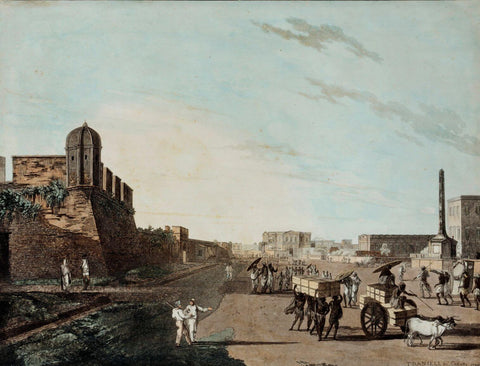 Views In Calcutta - Thomas Daniell  - Vintage Orientalist Paintings of India by Thomas Daniell