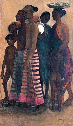 Villagers Going To The Market - Amrita Sher-Gil - Famous Indian Art Painting by Amrita Sher-Gil