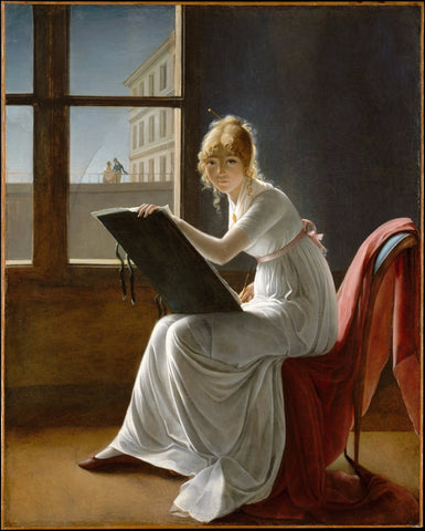 Young Woman Drawing by Marie-Denise Villers