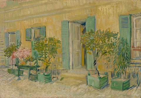 Exterior of a Restaurant in Asnières - Canvas Prints