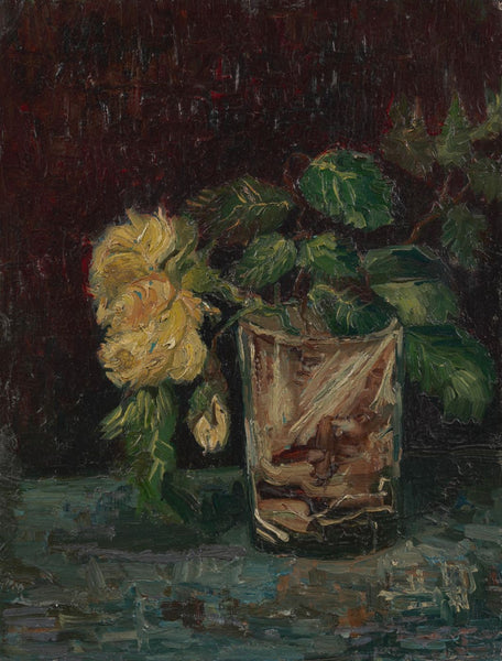 Glass with Yellow Roses - Framed Prints