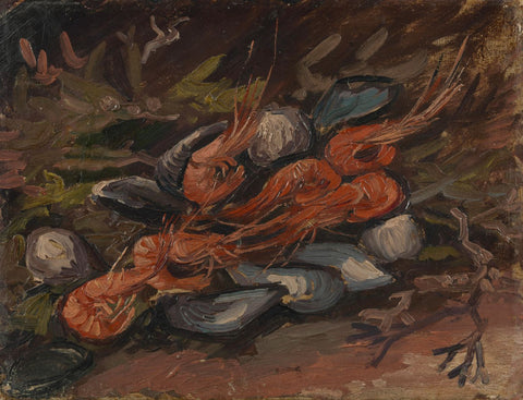 Prawns and Mussels - Canvas Prints