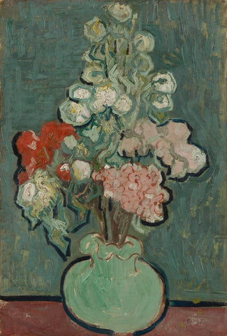 Still Life, Vase with Rose-Mallows