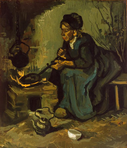 Peasant Woman Sitting By The Fire