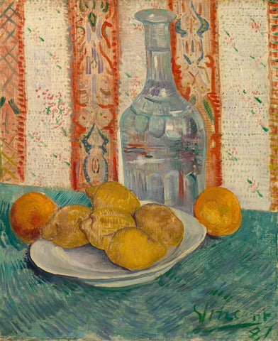 Vincent van Gogh - Carafe and Dish with Citrus Fruit 1887