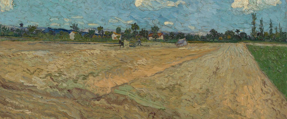 Vincent van Gogh - Ploughed Fields (The Furrows) by Vincent Van Gogh | Buy Posters, Frames, Canvas  & Digital Art Prints
