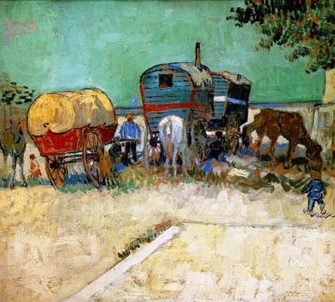 The Caravans - Gypsy Camp Near Arles