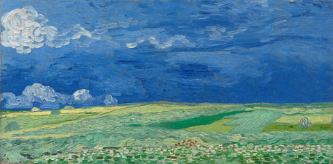 Vincent van Gogh - Wheatfield under thunderclouds - I