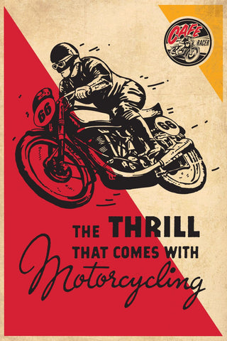 Vintage Poster - Thrill Of Motorcycling