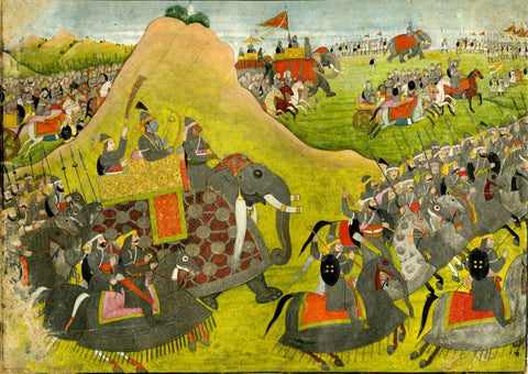 Vintage Indian Art - Ramayana - Ram Going Into Battle