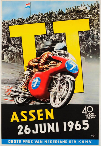 Vintage Isle of Man Tourist Trophy 1965 Poster