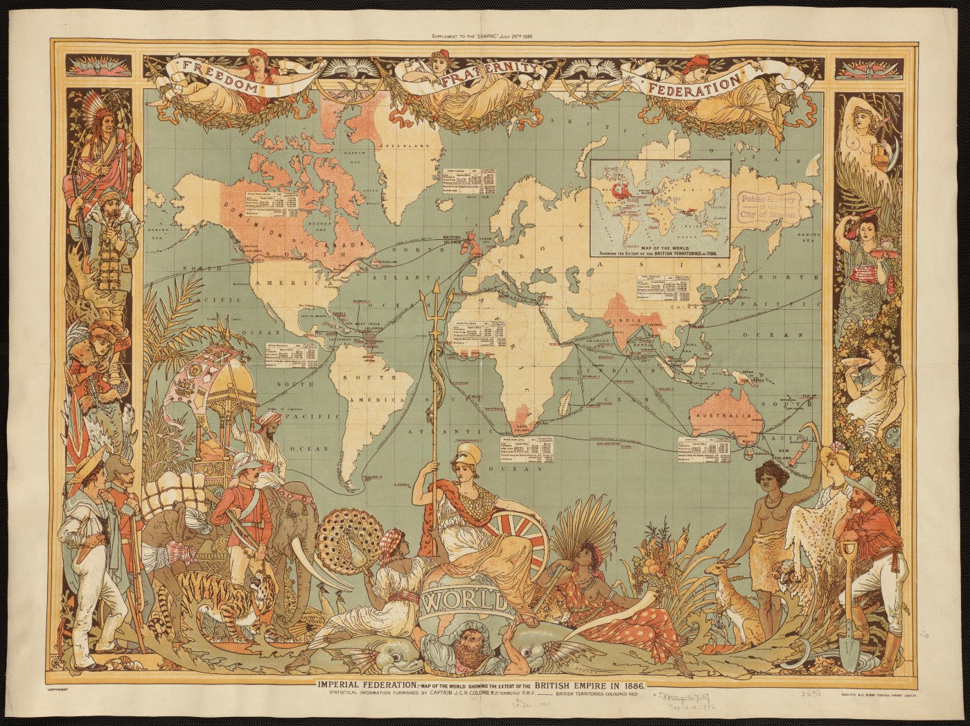Vintage map british empire in 1887 framed prints by tommy buy vintage map british empire in 1887 framed prints gumiabroncs Choice Image