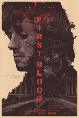 Tallenge Hollywood Collection - Vintage Movie Poster - First Blood - Sylvester Stallone
