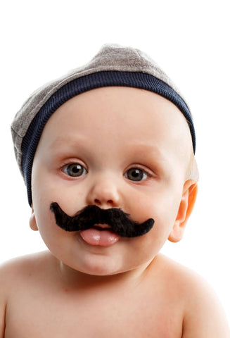 When I Grow Up I Will Have A Big Moustache - Funny Baby - Life Size Posters