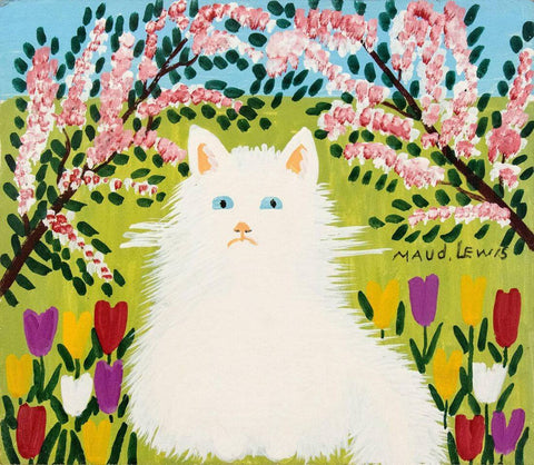 White Cat - Maud Lewis - Posters by Maud Lewis