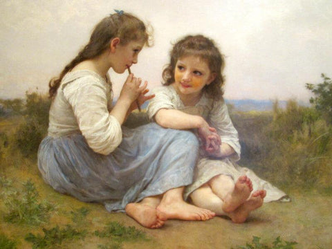 A Childhood Idyll - Posters by William Adolphe Bouguereau