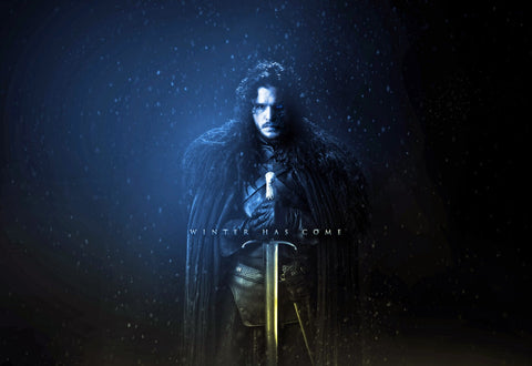 Winter Has Come - Jon Snow - Fan Art From Game Of Thrones